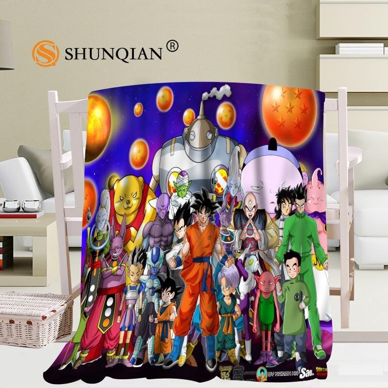 Custom Dragon Ball Z Flannel Falafel Fabric 58x80inch 50X60inch 40X50inch Sofa Bed Throw Blanket Kid Adult Warm Blanket