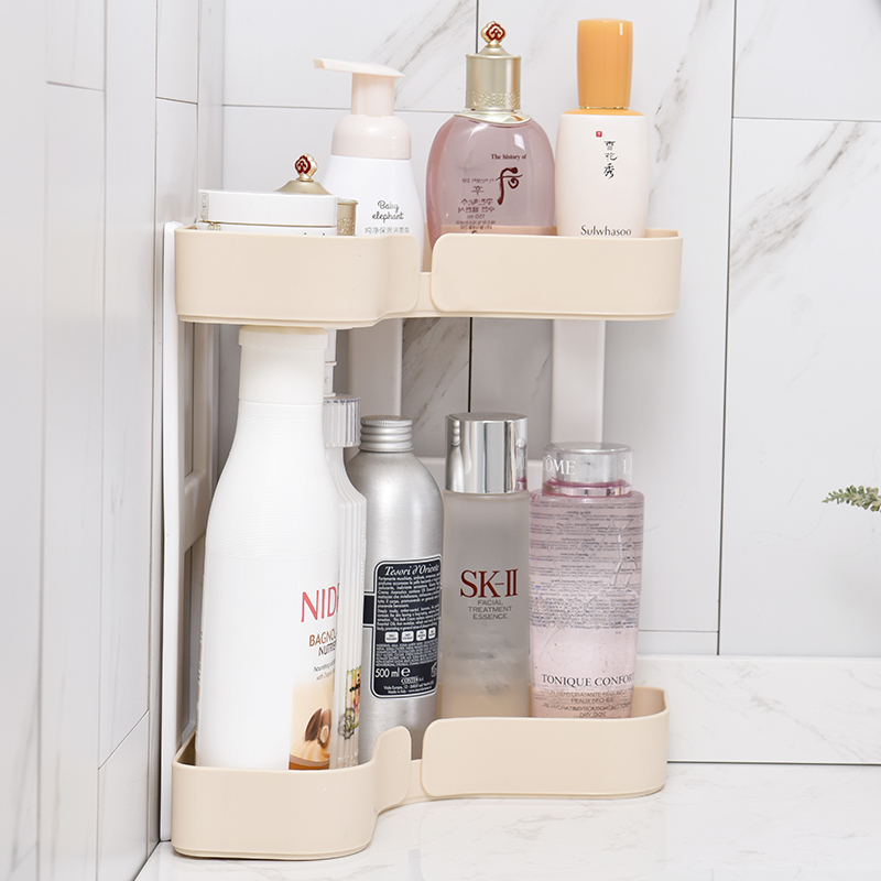 050 Multifunctional Detachable kitchen and guard double layer stacks corner storage rack 25 5 25 5 31cm in Racks Holders from Home Garden