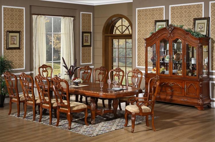 D001 squ madera maciza corona mesa de comedor 8 12 for Comedor 10 personas