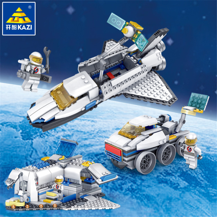 KAZI New 3 in 1 City Series Caravan Camping Car Space shuttle Legoingly Blocks Toys DIY Building Bricks Gifts for Children (6)