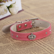 LDC008 Pu Leather Dog Collar Design For Small Dogs Pet