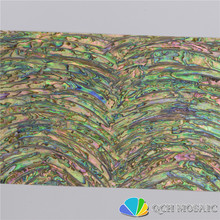 New Zealand abalone paua shell mother of pearl laminate sheet for musical instrument and wood inlay cambered pattern
