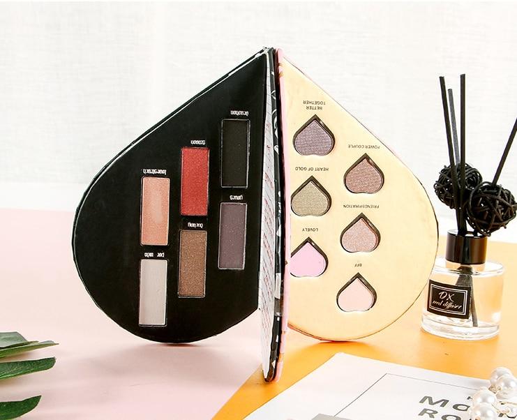 Hot Makeup Heart Shape 12 colors Eyeshadow Palette Shimmer Glitter Eye Shadow Long-Lasting Eyeshadow
