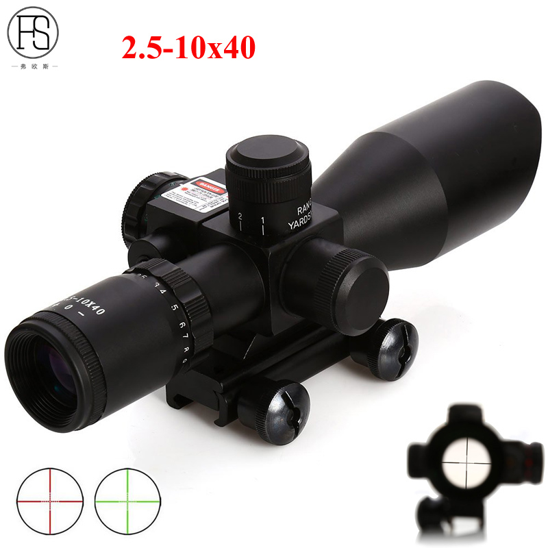 Tactical Riflescope 2.5-10x40 Holographic Sight Green Red Dot Scope Optics Laser Hunting Rifle Scope Telescopica With Rail Mount tactical optics riflescope 4x42 red green dot sight scope fit picatinny rail mount 20mm hunting rifle scopes
