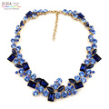 2017 top quality Z full crystal Fashion Necklace choker collar bib crystal statement necklace for women smooth back no more glue