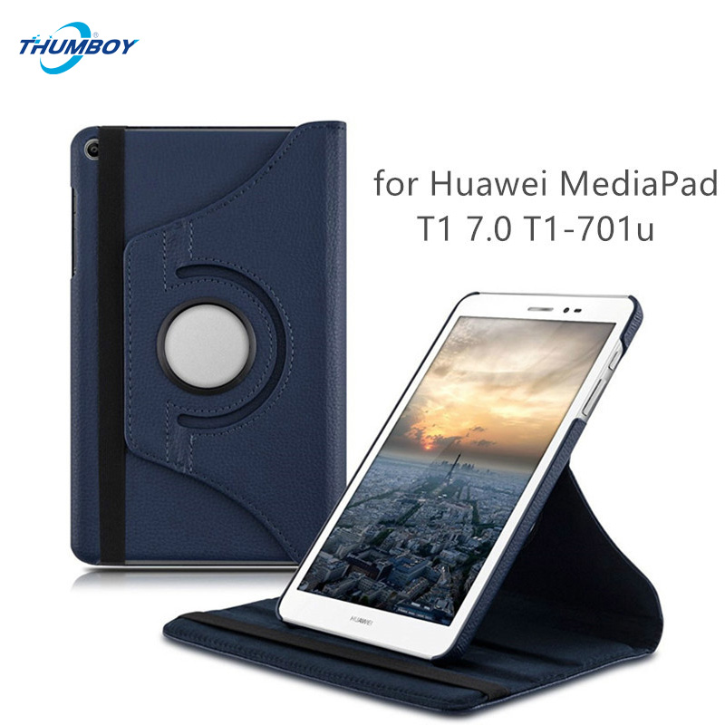 360 rotating Leather Flip Case for Huawei MediaPad T1 701u Tablet Case for Huawei T1 7.0 T1-701u Tablet Lychee pattern Cover+pen 2018 hot 360 rotating flip stand pu leather cover for huawei mediapad t1 8 0 t1 821 t1 821w t1 823l s8 701u s8 701w tablet case