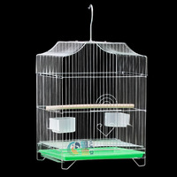 Electroplated bird cage parrot myna songbird nest large