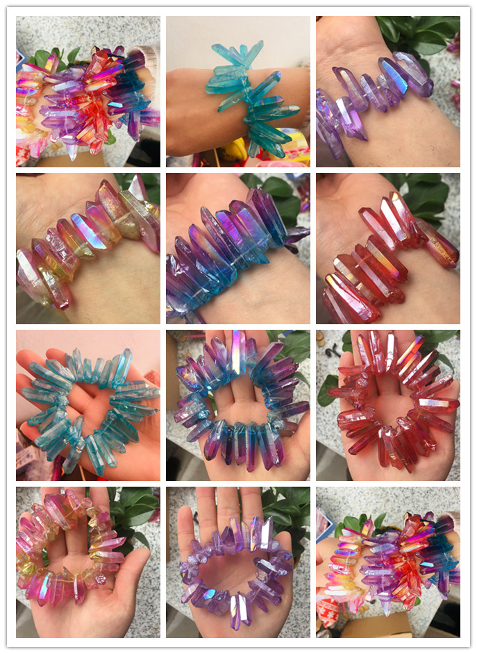 new model has 25 natural crystal blue plated specimens that make up the crystal halo creative bracelet in Stones from Home Garden