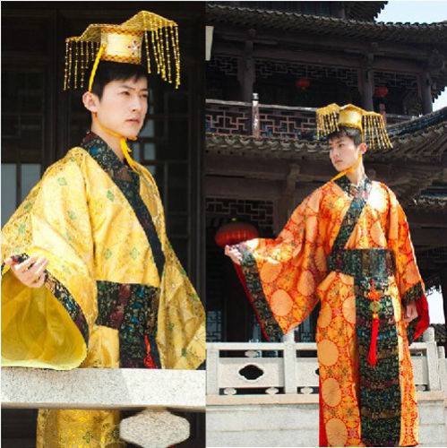 Chinese Ancient Man Clothing Emperor Prince Show Cosplay Robe Costume