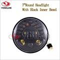 Envío Gratis DOT Y Emark 1 unids Negro 12 v LED de Alta/luz de Cruce de Adaptación Faro Para Harley Moto