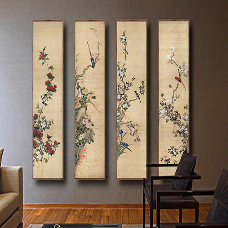 Chinese Style Wallpapers For Walls 3D Steroscopic Wall Papers Home Decor Flowers Bird Murals Naturals Landscape Tree Living Room цена