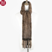 Women Real Mink Fur Scarf 100% Genuine Real Mink Fur Muffler Good Quality Wholesale And Retail 2020 Real Mink Fur Knit Scarves