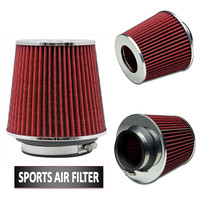 Car Aire Universal Chrome Finish Car Air Filter Induction Kit High Power Sport Air Purifier Freshener