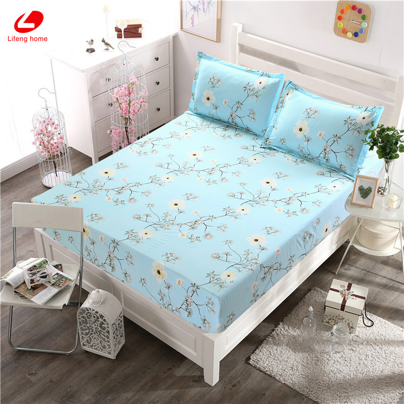 Home textile bed sheet sheet flower mattress cover printing bed sheet elastic rubber bedclothes 180*200cm summer bedspread band 47