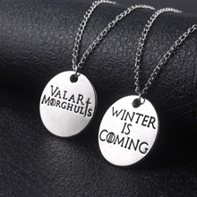 RJ Fashion Film Lover Game of Thrones A Song Ice and Fire Necklaces Valar Morghulis &Winter Is Coming Couple Necklace Collier