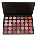 2017 Professional 35 Color Eyeshadow Palette 100% Shimmer Make up Pallete Beauty Set Smoky Glitter Eye shadow Kit OS#