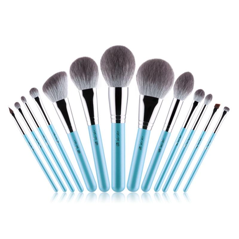 Professional Makeup Brushes Set Soft Synthetic Fiber Powder Blush Eye Shadow Eyebrow Lip Brush pincel maquiagem