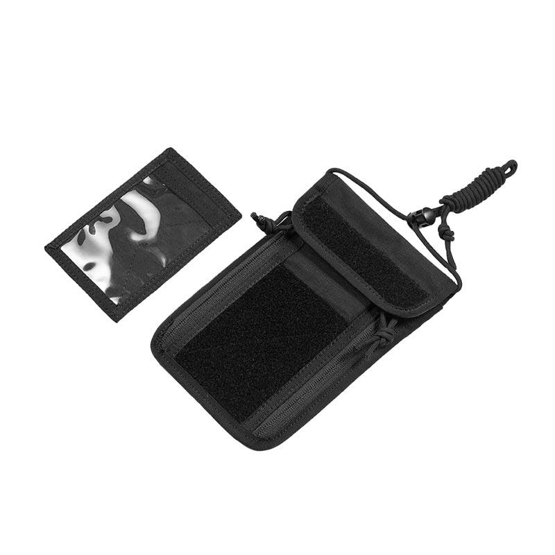 OneTigris Travel ID Card Holder Credit Card Organizer Neck Lanyard Pocket Wallet Tactical Badge Holder As Outdoor Tool