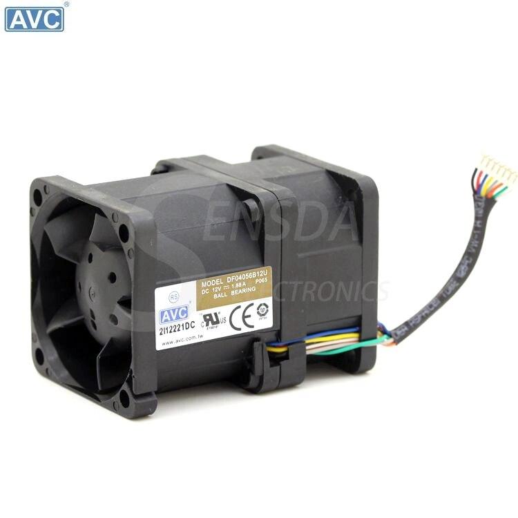 AVC 4056 DF04056B12U 4cm 12V 1.88A pressurized wind 1U server cooling fan