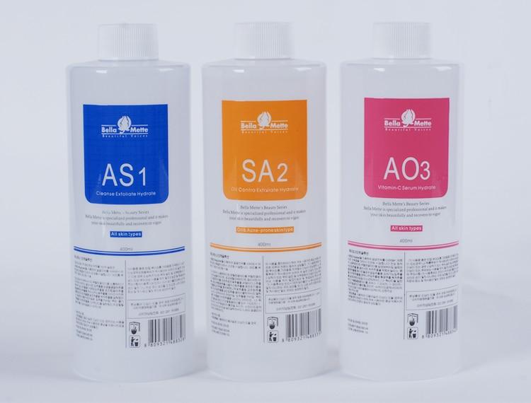 Aqua Peeling Solution Beautiful Voices AS1 + SA2+AO3 Hydra Dermabrasion 400ml/bottle Anti Aging Skin Care Equipment Free Shippin