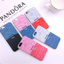 For iPhone 6S Case Korea spell color gradient shell phone for iphone6 6s 6plus water paste