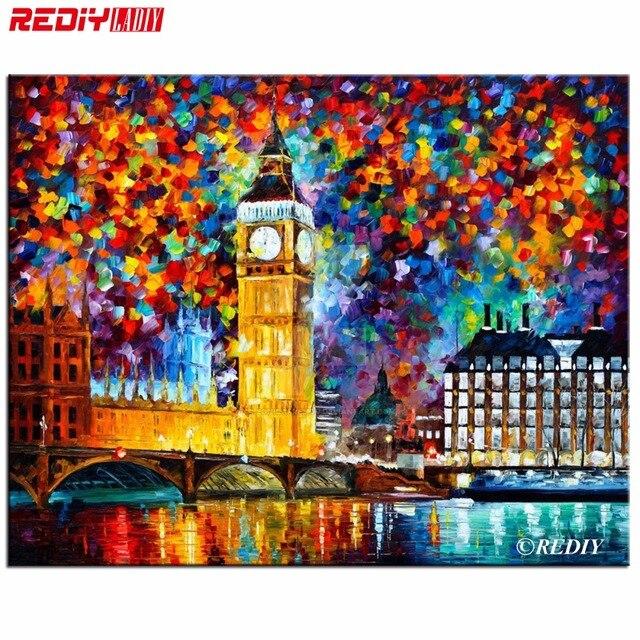 DIY 5D Diamond Mosaic Big Ben London Diamond Painting Cross Stitch Kits Diamonds Embroidery Round Rhinestones Home Decoration