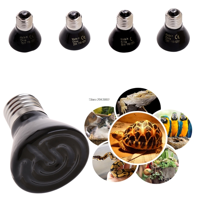 Infrared Ceramic Emitter Heat Light Bulb Lamp For Reptile Pet Brooder Breeding 25W/50W/75W/100W