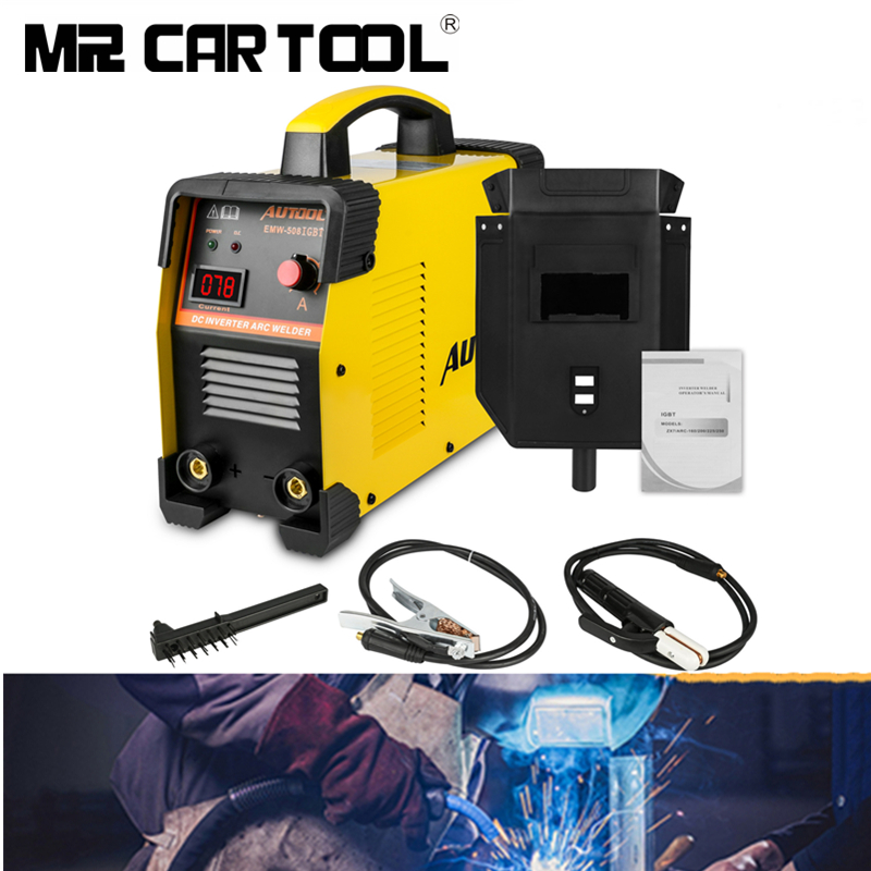 AUTOOL EWM508 Arc Welder Inverter Arc Electric Welding Machine 110V 220V MMA For Welding Working And Electric Working Handheld