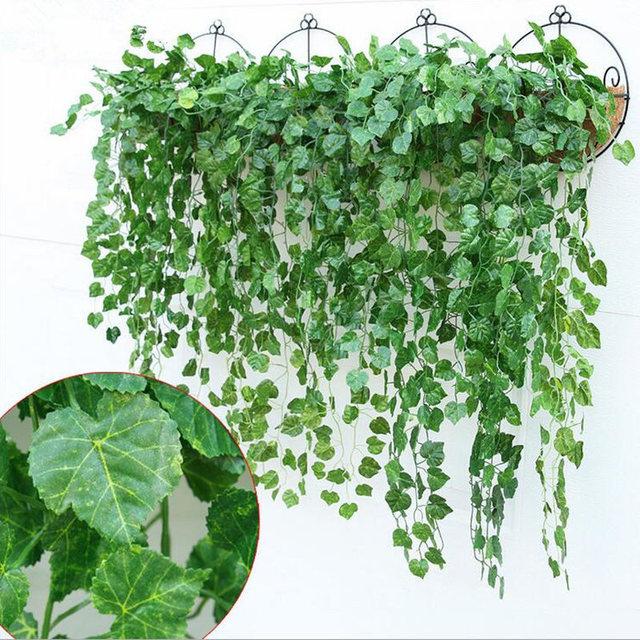 hiedra artificial guirnalda de flores scindapsus vine fake plantas colgantes para el hogar jardn decoracin 4 - Plantas Colgantes
