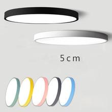 Современный ультра-тонкий светодиодный потолочный светильник, круглый светильник для спальни, гостиной, комнаты, балкона, лампа macaron, простая Скандинавская лампа