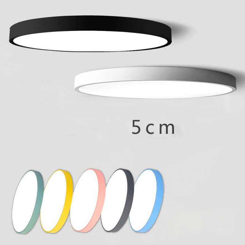 Modern Ultra-thin Led Ceiling Lamp Round Bedroom Lamp Living Room Room Balcony Lamp Macaron Simple Nordic Lamp