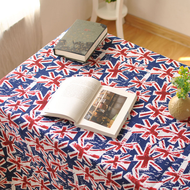 New European British Flag Pattern Coffee Table Cloth Round Wedding  Decoration Party Tablecloth Home Decorative Tables
