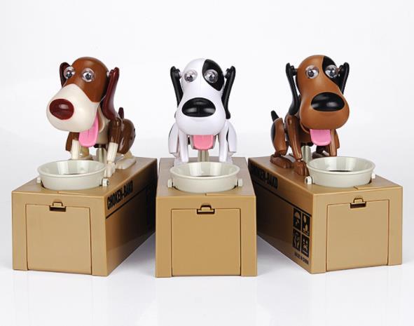 Robotic Hungry Eating Dog Money Saving Box  My Pet World Store