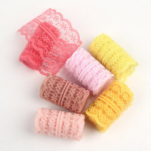 DIY Trim Sewing Lace Ribbon Fabric By The Roll Tulle Handmade Crafts Decoration Material Pure Color