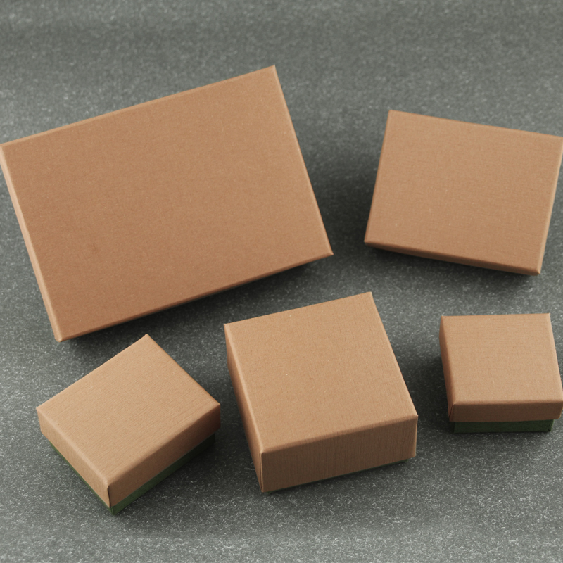 Box For Jewelry Cover Brown Bottom Green Free Shipping wholesale 100pcs/lot Gift Ring Earring Necklace Pendant Packaging Box