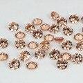 De Color champán Cubic Zirconia Piedra Suministros De Joyería Redonda Pointback Granos Del Diseño Belleza 3D Nails Decoración Del Arte DIY 4-18mm