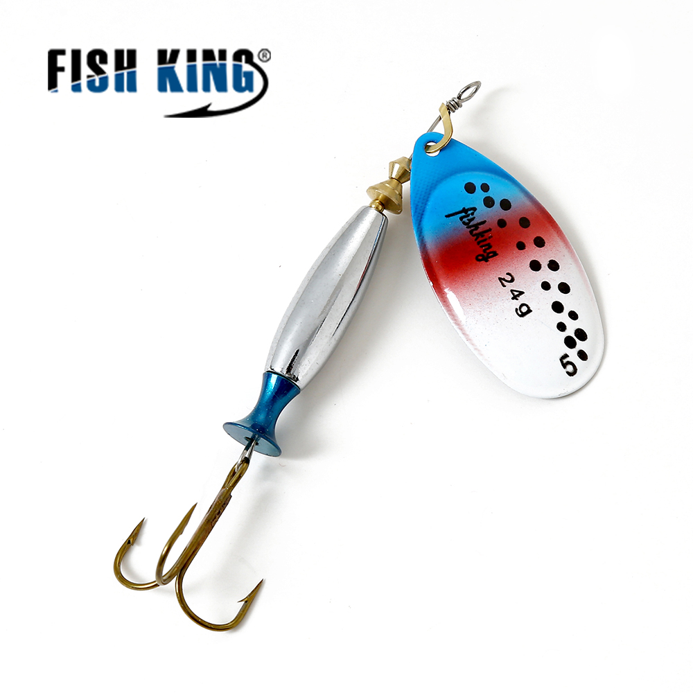 FISH KING Mepps Long Cast 1 PC  Fishing Lure Spinner Bait Fishing Tackle Artificial Hard Fake Fish Metal Lures Set рыболовный поплавок night fishing king 1012100014 mr 002