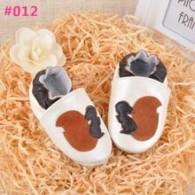 Free Shipping Genuine Leather Baby Shoes Soft Bottom Non Slip Baby Cartoon Design Leather Shoes Toddler