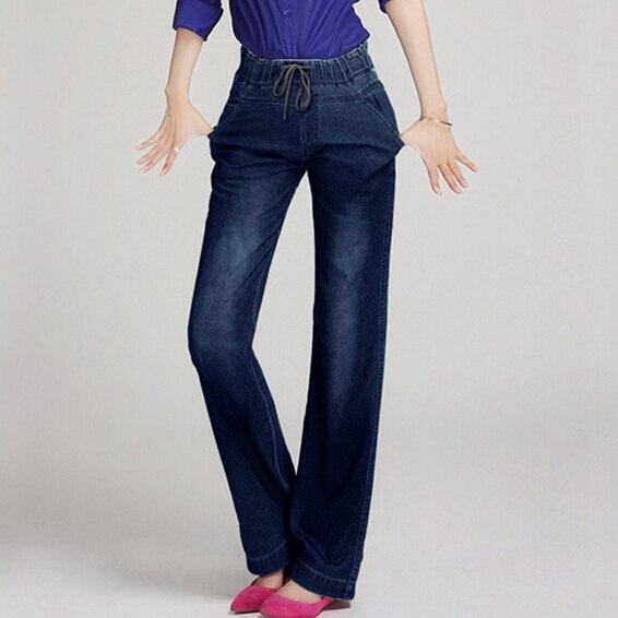 NEW ARRIVE Autumn and winter women jeans speaker wide leg pants denim trousers female jeans jones new york new solid winter white women s 8 wide leg dress pants $99 346