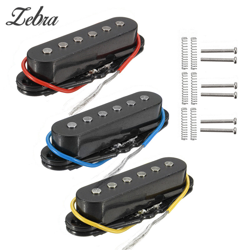 Zebra New Chrome Electric Guitar Humbucker Single Coil Bridge Plate/Saddle Neck/Middle/Bridge Pickup Musical Instruments Parts yibuy gold vintage lipstick tube pickup for single coil electric guitar