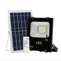 10W 20W 30W 50W 100W LED solar floodlight with Remote Control Outdoor Waterproof IP66 for Garden Lawn Landscape