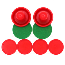 Red Hockey Table Air Accessories 76mm Puck Felt Pitcher Mallet Goalkeepers & 52mm Adult Table Games Funny Toys