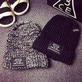 2015 новых Мужчин и женщин шапочки буквы BOWLLER вязаная шапка мода теплая зимняя шапка бесплатная доставка