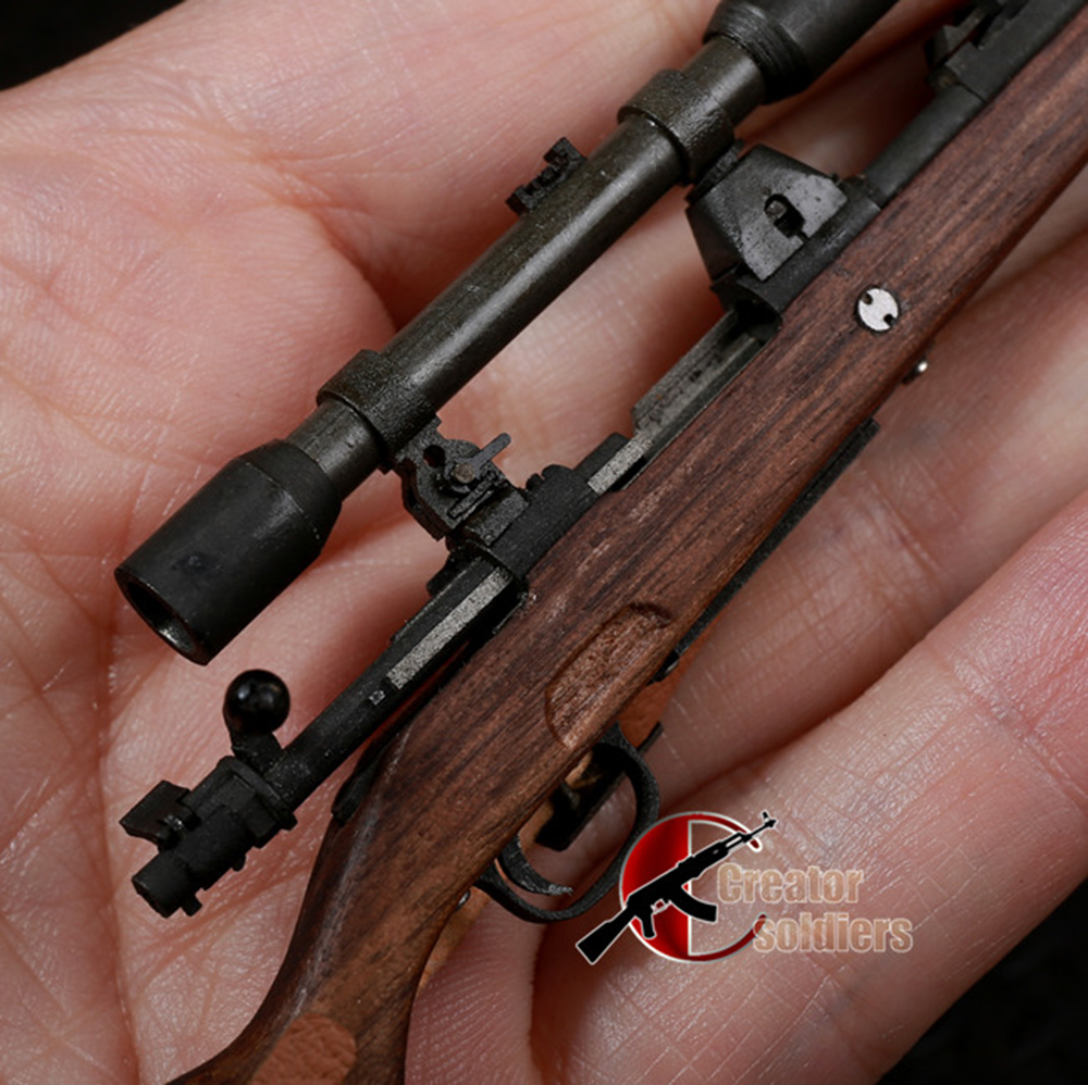 1//6 WWII German Army Model 98K Rifle Gun Weapon Bayonet For 12/'/' Figure Toys