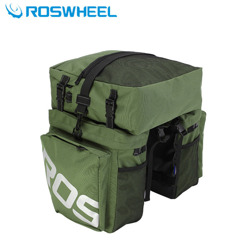 ROSWHEEL 3 in 1 37L bag mtb bicycle bike cycling Trunk Bag Pannier mountain bike turnk pack bag bicycle accessories