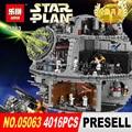 ЛЕПИН 05063 Star Wars Death Star 4016 шт. Строительный Блок Кирпичи Игрушки Совместимы с 75159