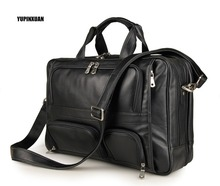 YUPINXUAN Europe Fashion Cow Leather Messenger Bags 17″ Laptop Briefcases Male Large Real Leather Travel Handbags Big Hand Bags