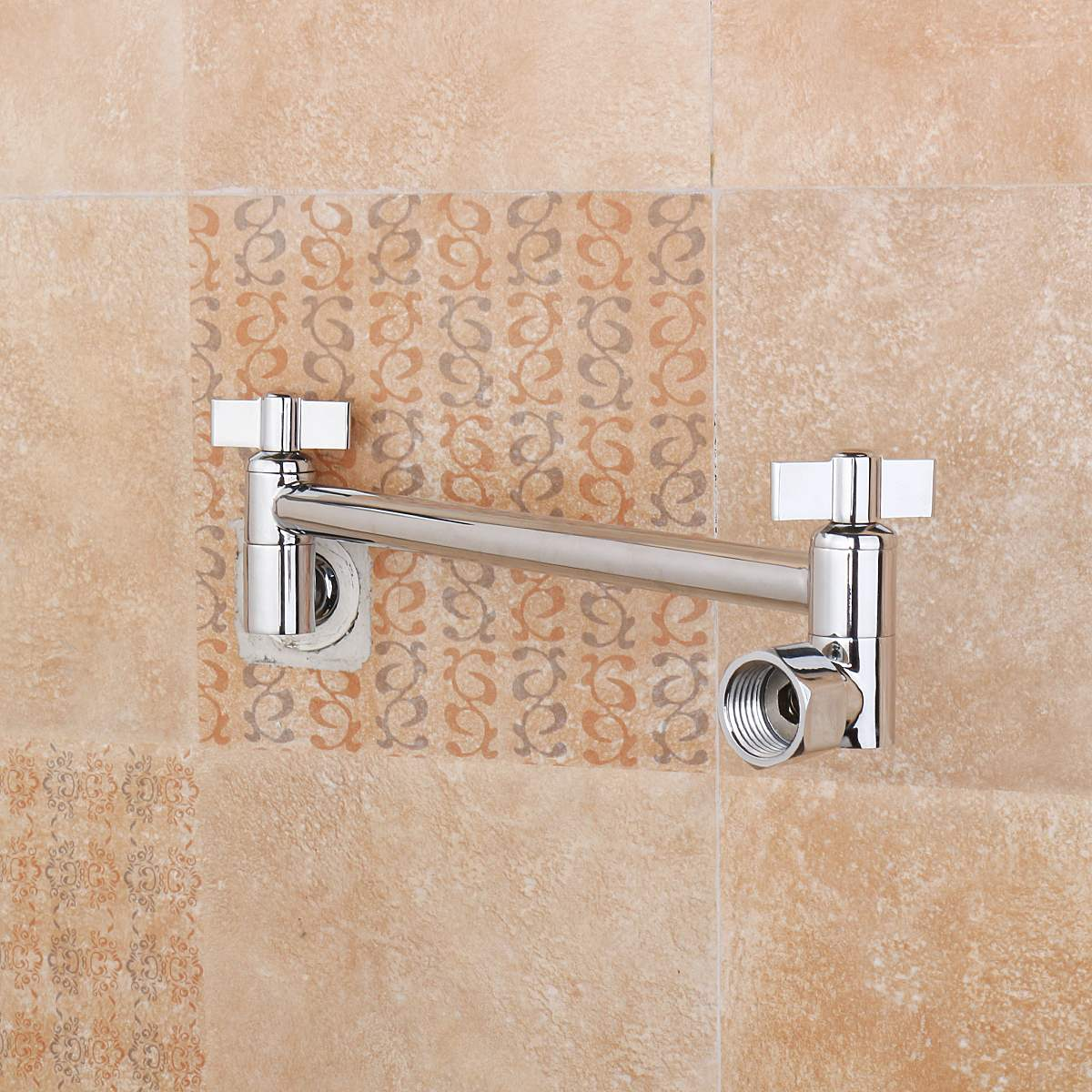9 inch brass chrome shower head adjustable height arm wall mount extension shower arms bathroom fixture - Shower Arm Extension
