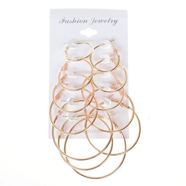 OPPOHERE 6 para/zestaw Vintage złoty kolor duże okrągłe kolczyki koła dla kobiet Steampunk ucha klip strona prezent akcesoria biżuteryjne
