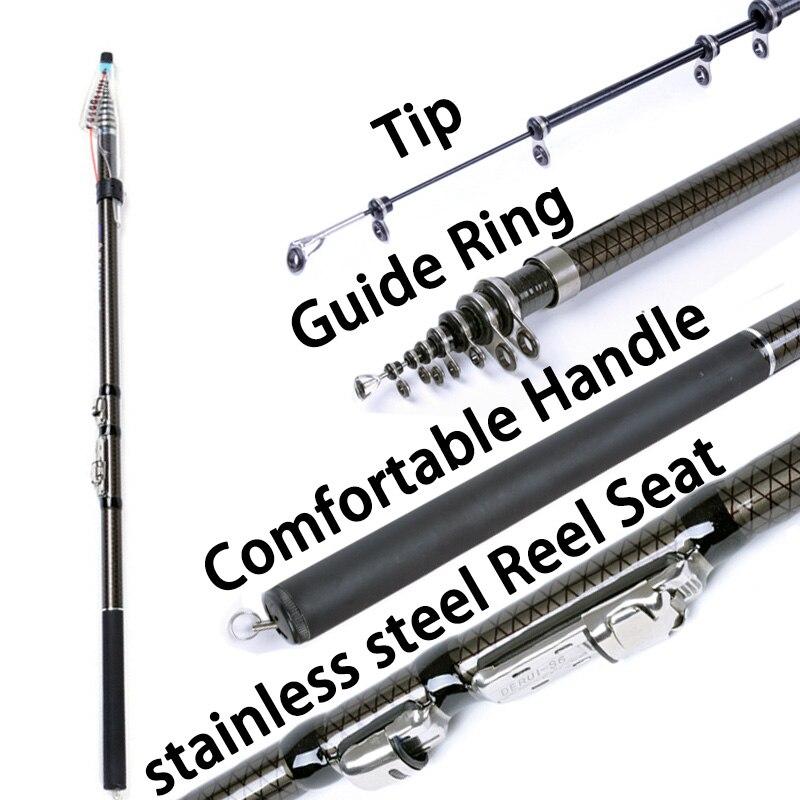 2.7m 3.6M 4.5M 5.4M 3.0M 6.3M Spinning Fishing Rod M Power Telescopic Rock Fishing Rod